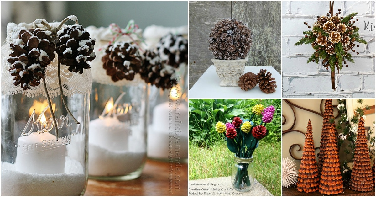 25 Creative Pinecone Crafts That Add Beauty To Your Fall