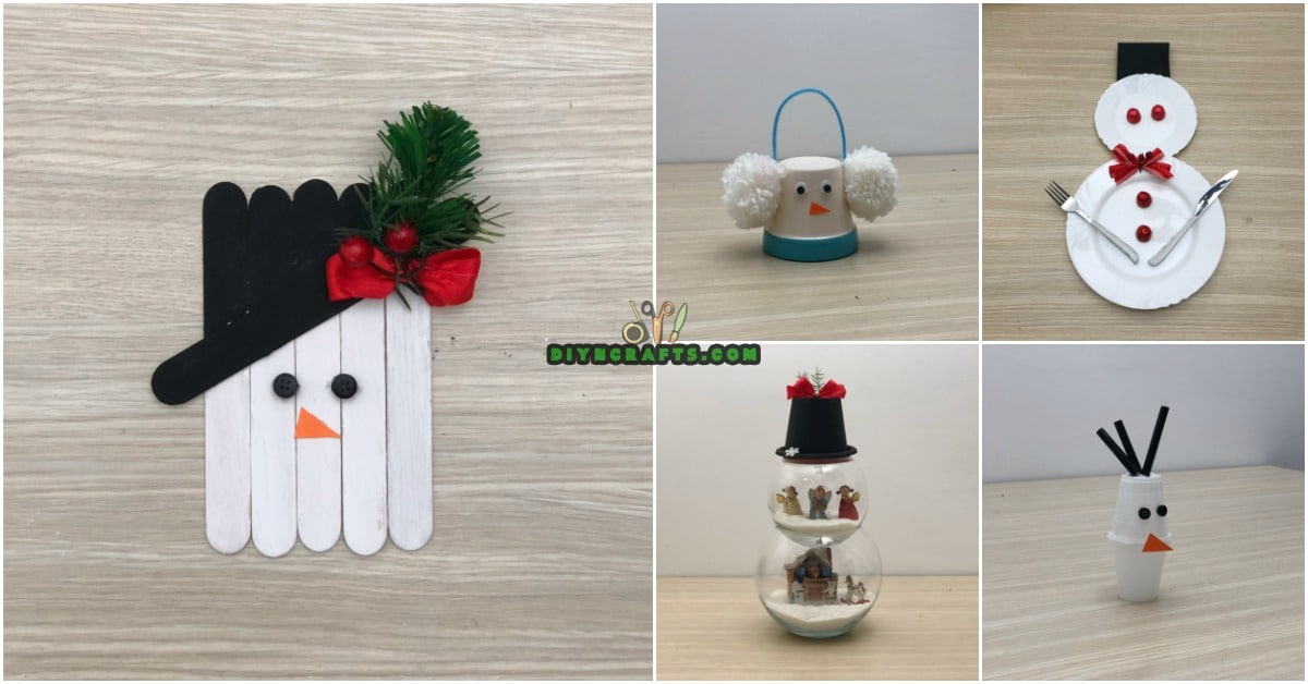 5 creative snowman crafts you can do in under three minutes