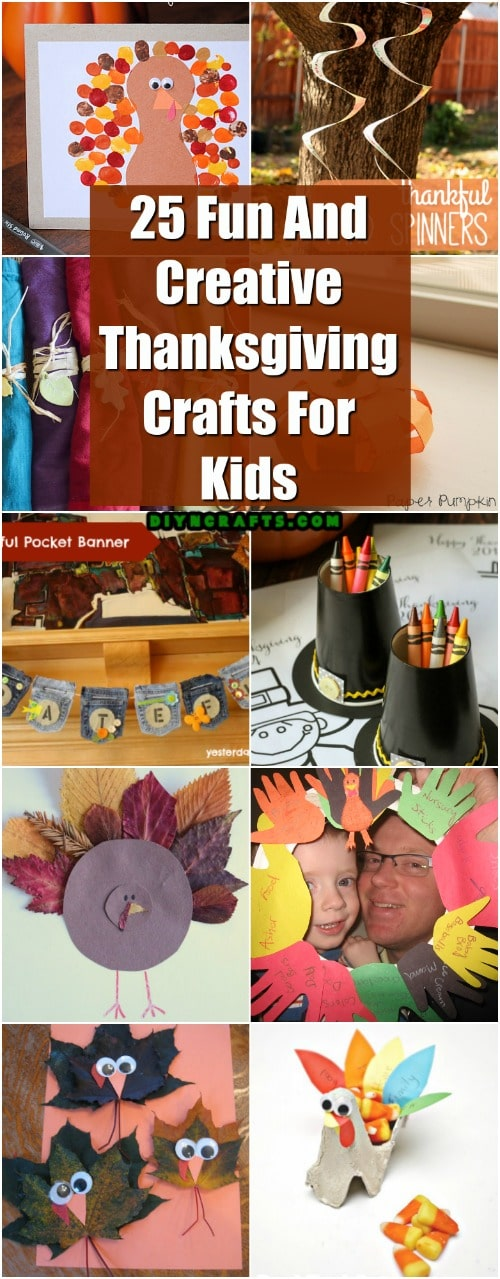 Fun Thanksgiving Crafts For Kids Part - 28: 25 Fun And Creative Thanksgiving Crafts For Kids