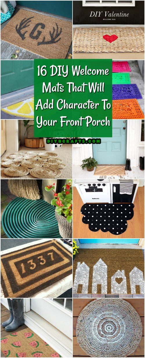 16 DIY Welcome Mats That Will Add Character To Your Front Porch