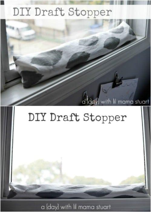 Easy 30 Minute DIY Draft Stopper