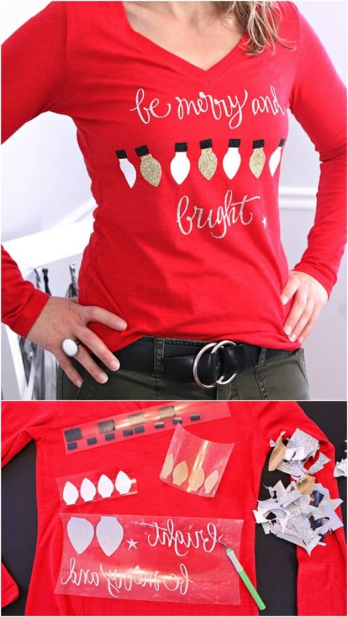 15 fun ugly christmas sweaters you can easily diy diy crafts not so ugly diy christmas sweater solutioingenieria Gallery