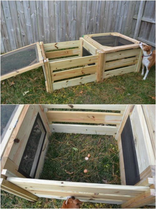 Quick And Easy Two Bin Compost Bin - 35 Cheap And Easy DIY Compost Bins That You Can Build This Weekend