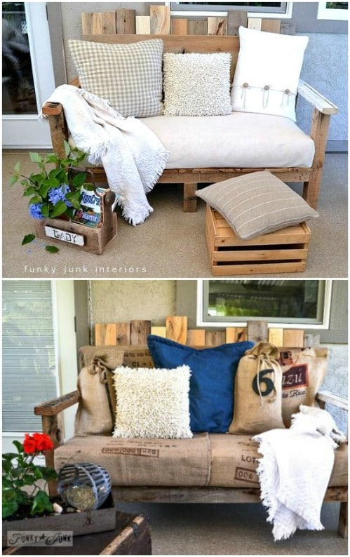 DIY Upcycled Pallet Bench