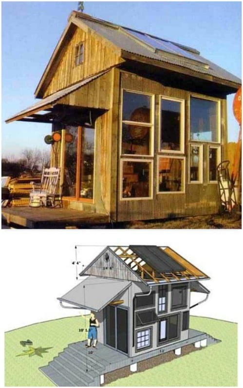 Elaborate DIY Greenhouse/Guest House