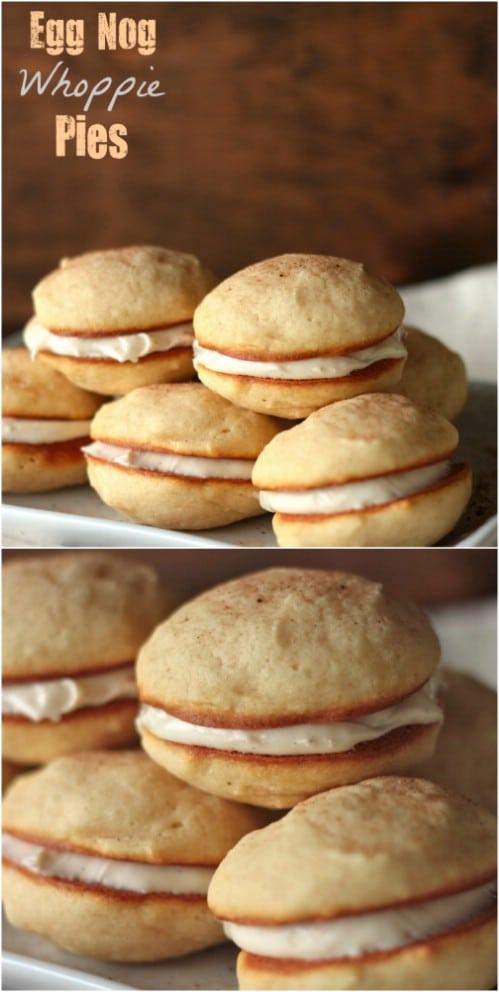 Eggnog Whoopee Pies