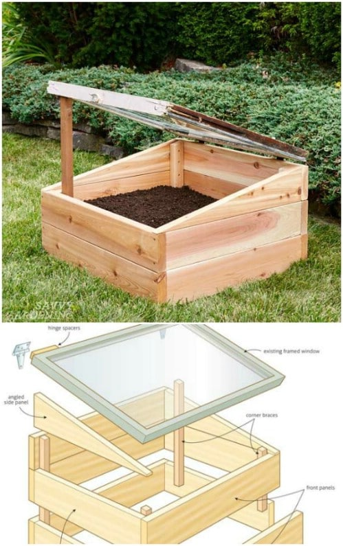 Upcycled Window Cold Frame Greenhouse