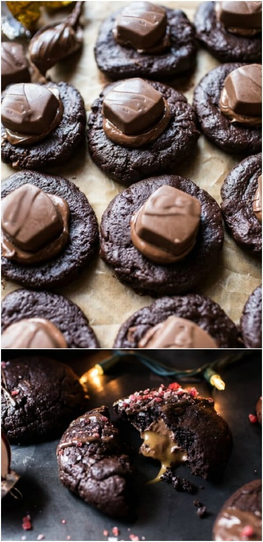 Hazelnut And Caramel Stuffed Christmas Cookies