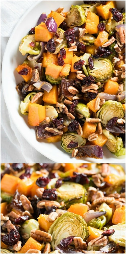 Roasted Veggies With Cranberries And Pecans