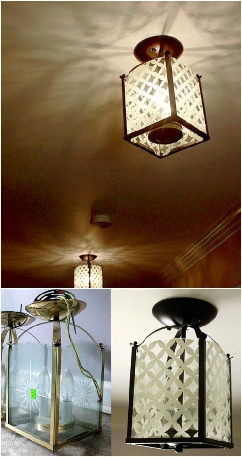 Gorgeous DIY Painted Light Fixture