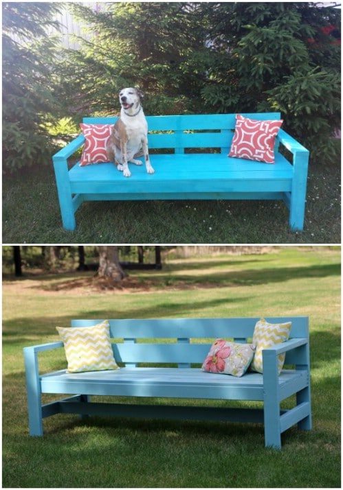 Easy DIY Modern Park Bench