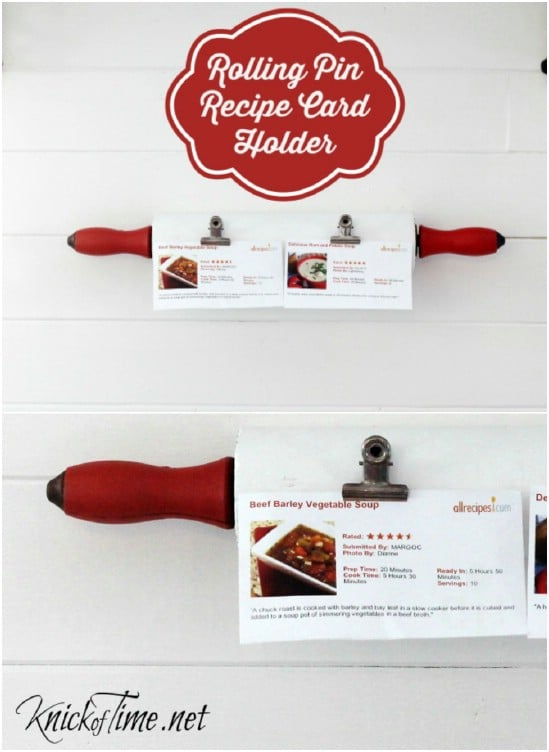 Rolling Pin Card Holder