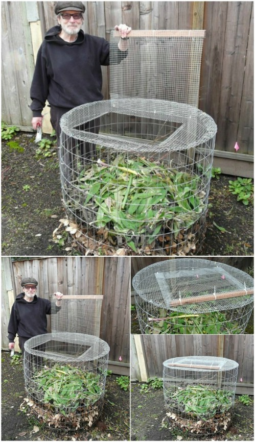 DIY Hardware Cloth Compost Bin