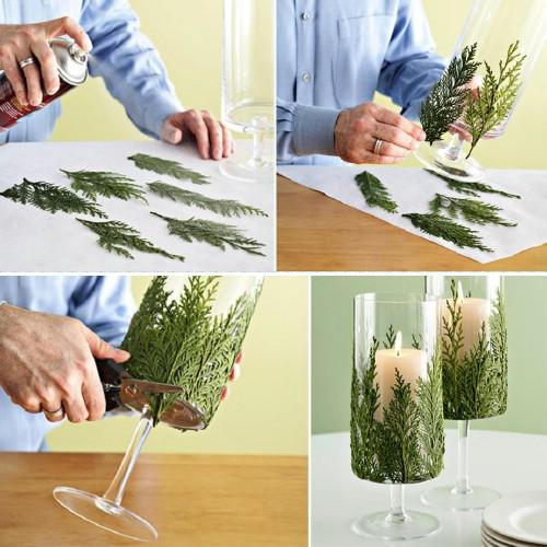 DIY Evergreen Table Runner