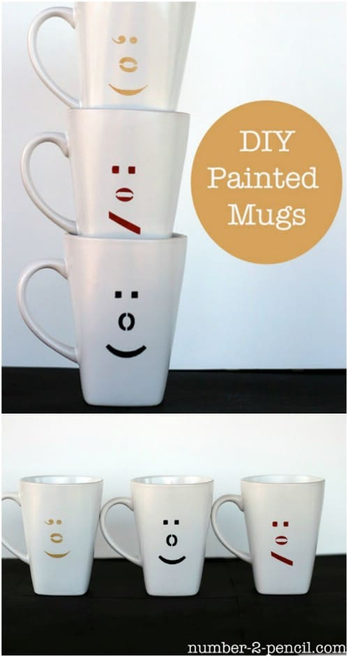 DIY Decorative Emoticon Mugs