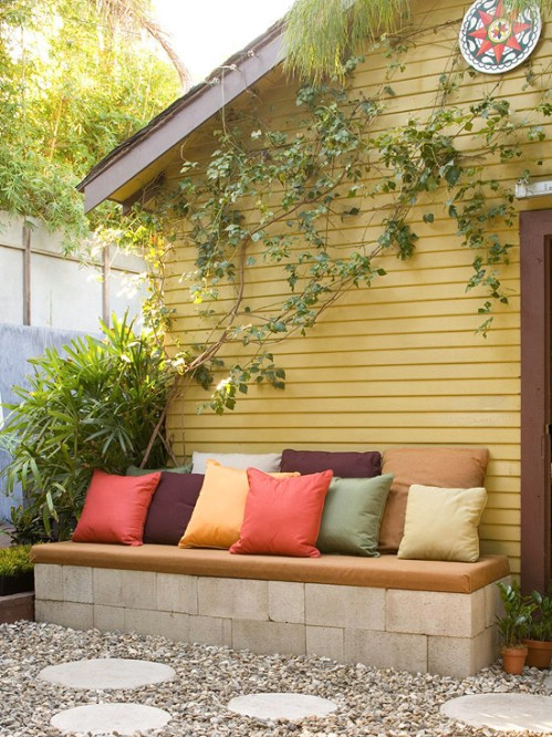 DIY Garden Projects: 14 Outdoor Bench Ideas You Can Build It Yourself