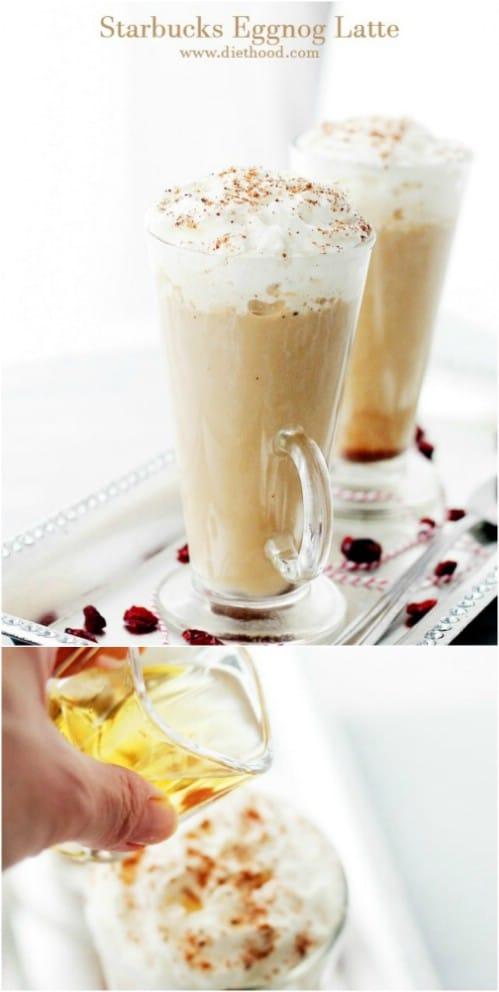 Homemade Mock Starbucks Eggnog Latte