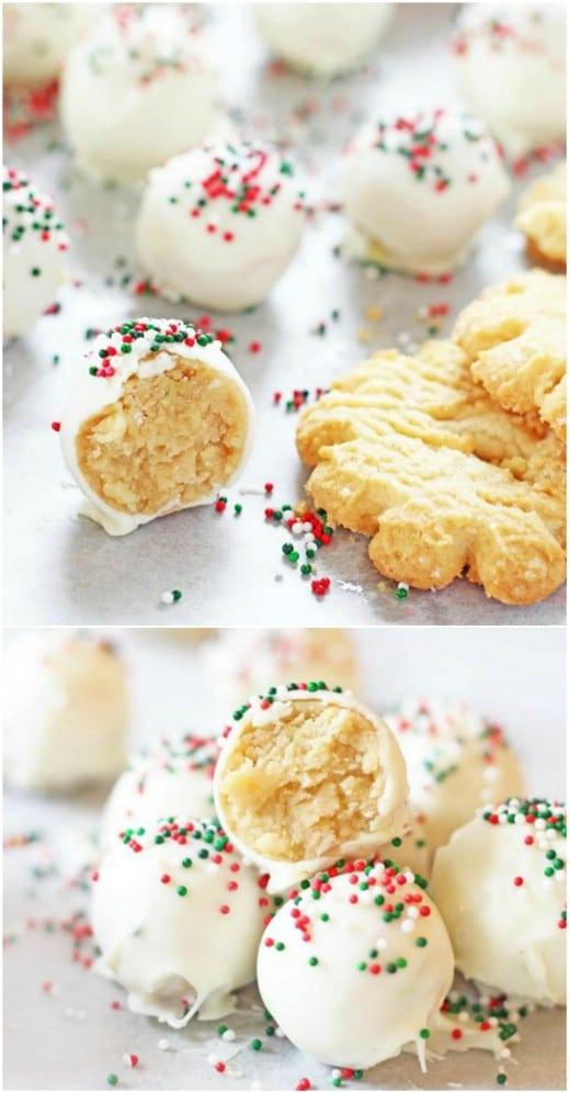 Homemade Christmas Sugar Cookie Truffles