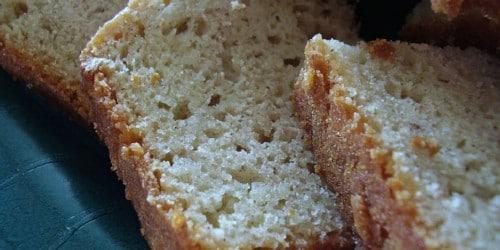 Super Easy Eggnog Quick Bread
