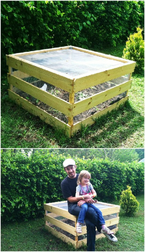 DIY Square Compost Bins