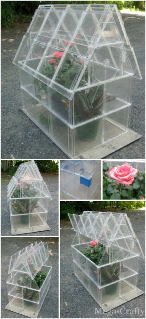 Upcycled CD Case Greenhouse