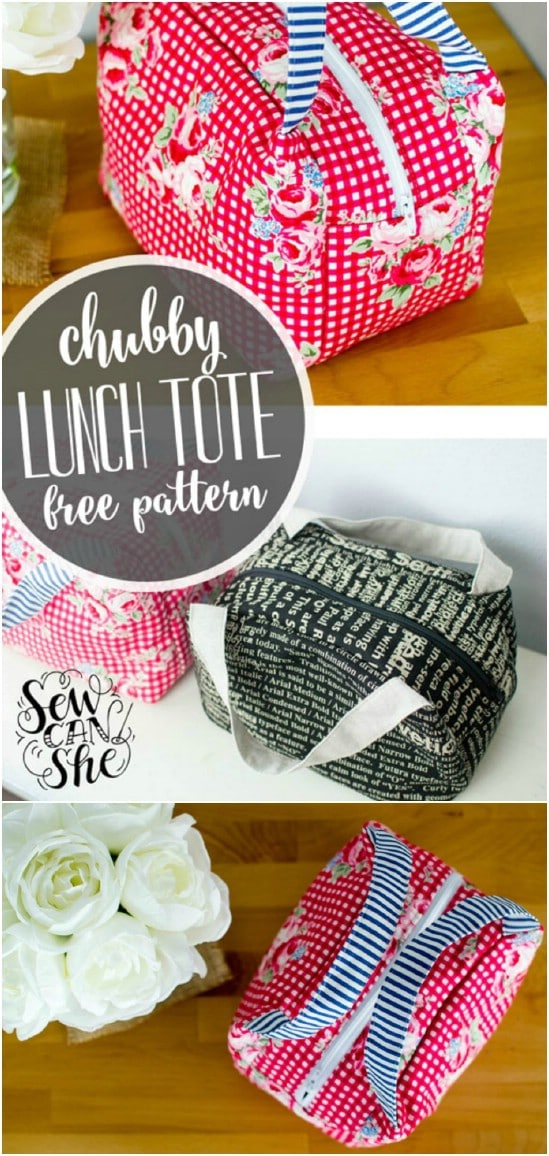 Homemade Chubby Lunch Tote