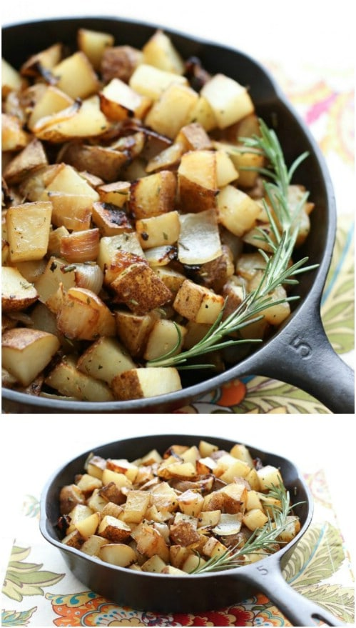 Rosemary And Onion Skillet Potatoes