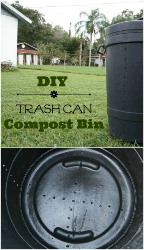 Upcycled Garbage Can Compost Barrel