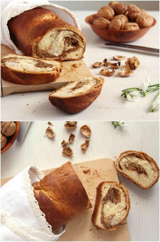 Romanian Sweet Walnut Bread