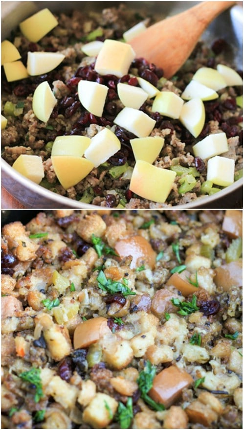 Slow Cooker Apple And Sausage Stuffing