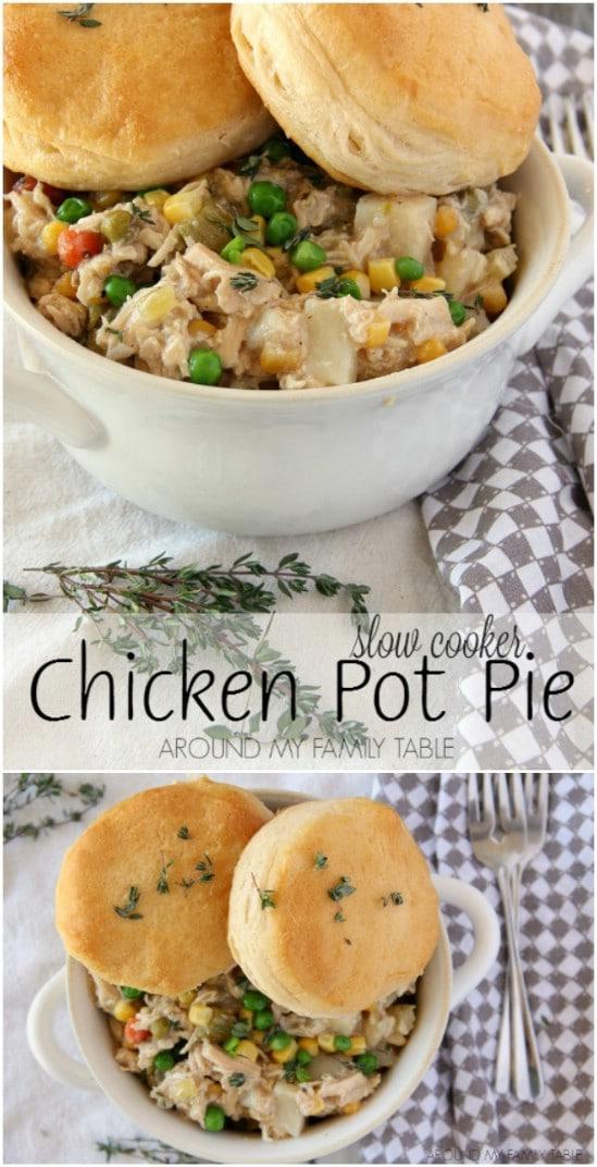 Easy Crock Pot Chicken Pot Pie