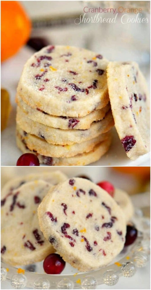 Cranberry And Orange Shortbread Cookies