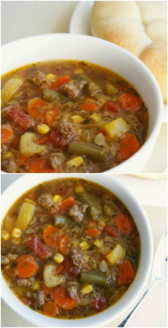 Easy Slow Cooker Beef Soup