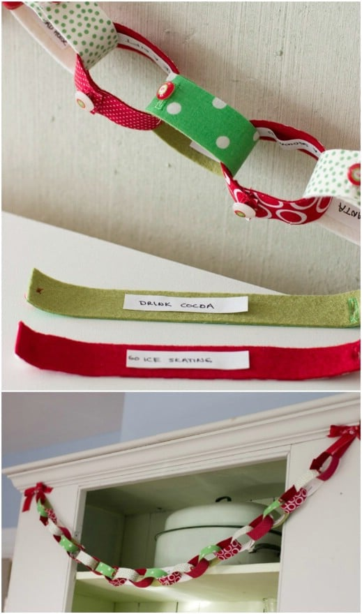 Fabric Covered Paper Chain