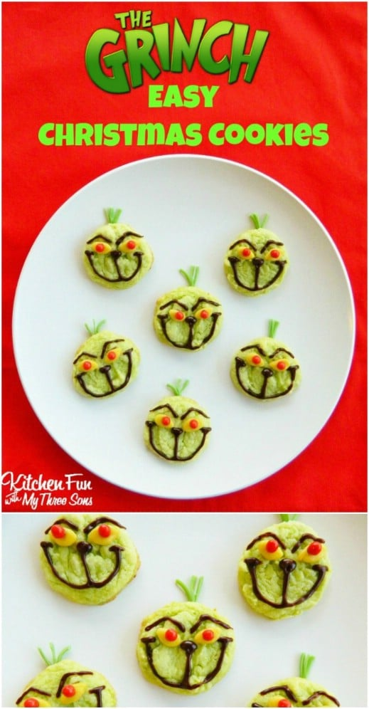 Adorable And Easy Grinch Cookies