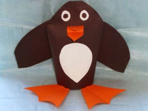 Easy To Make Penguin Puppet