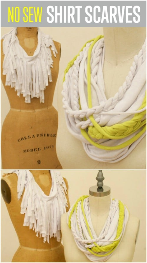 Easy Braided T-Shirt Scarf