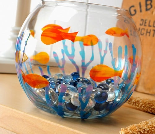 Cute DIY Painted Fish Bowl