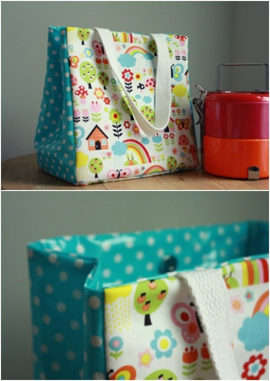 DIY Handled Customizable Lunch Sack