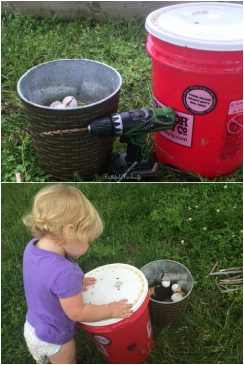 Simple DIY Five Gallon Bucket Compost Bin
