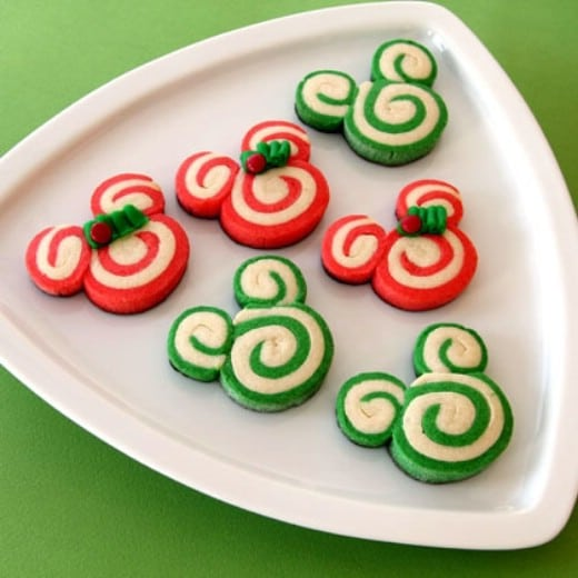 Homemade Disney Swirl Christmas Cookies