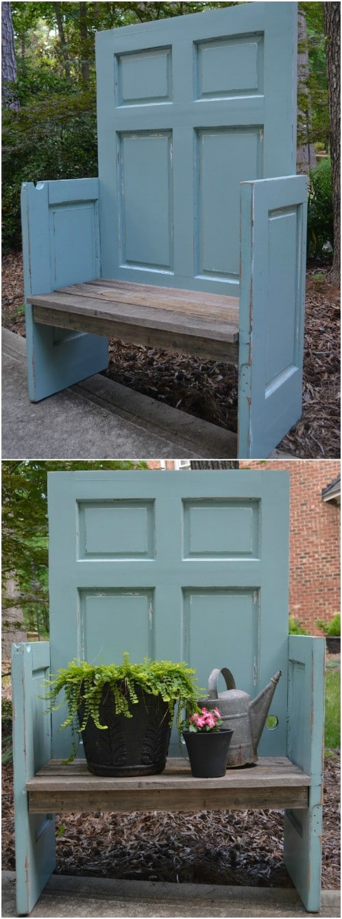 Upcycled Door Bench