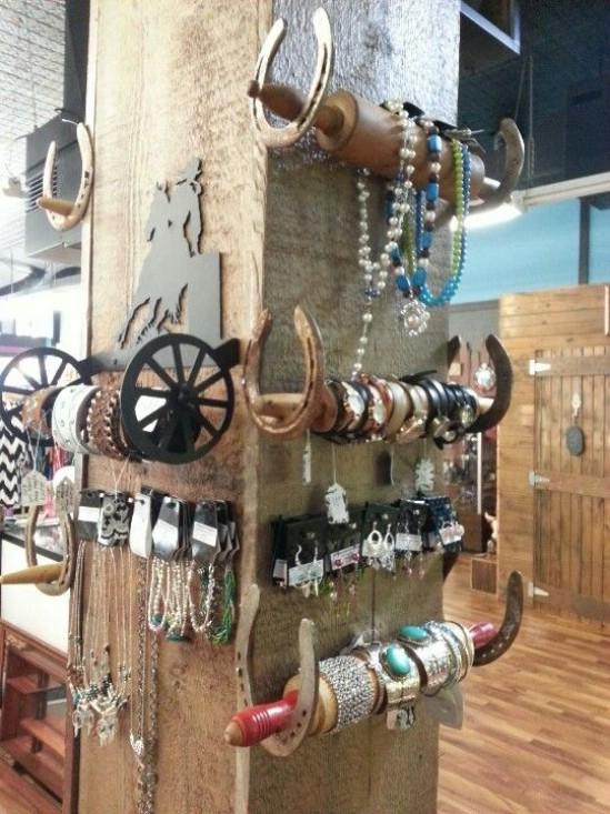 Repurposed Rolling Pin Jewelry Holder