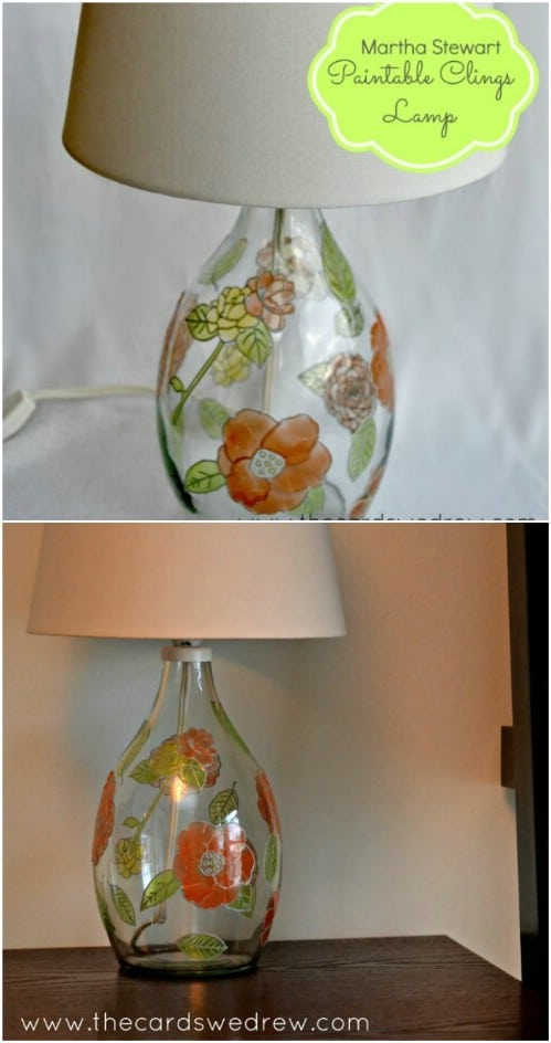 Easy DIY Glass Paint Lamp