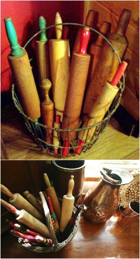 Rolling Pin Basket Display
