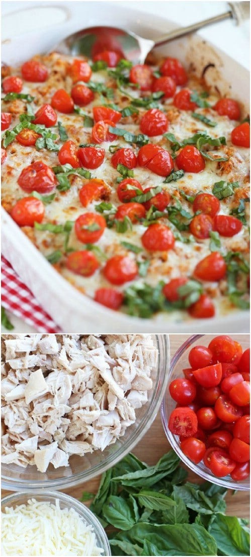 Caprese Chicken And Quinoa Casserole