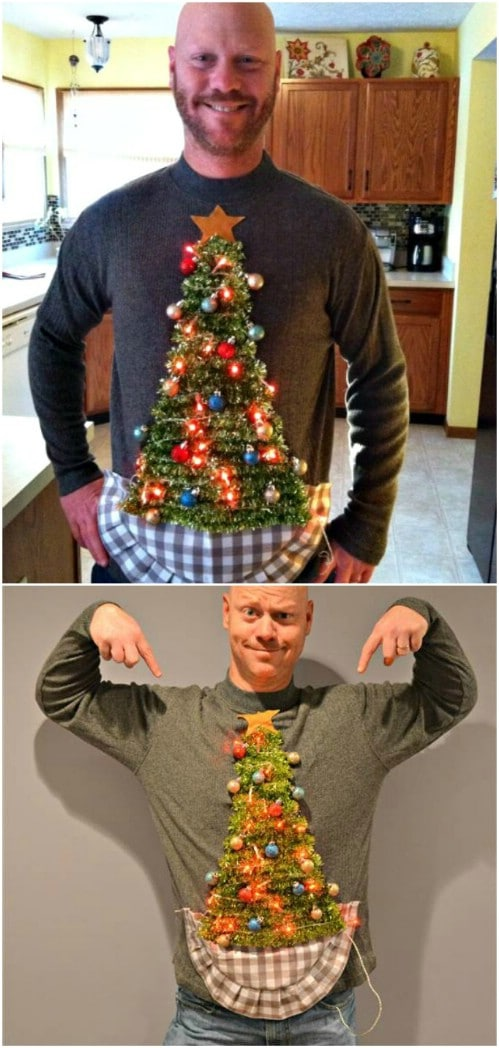 lighted diy ugly christmas sweatshirt
