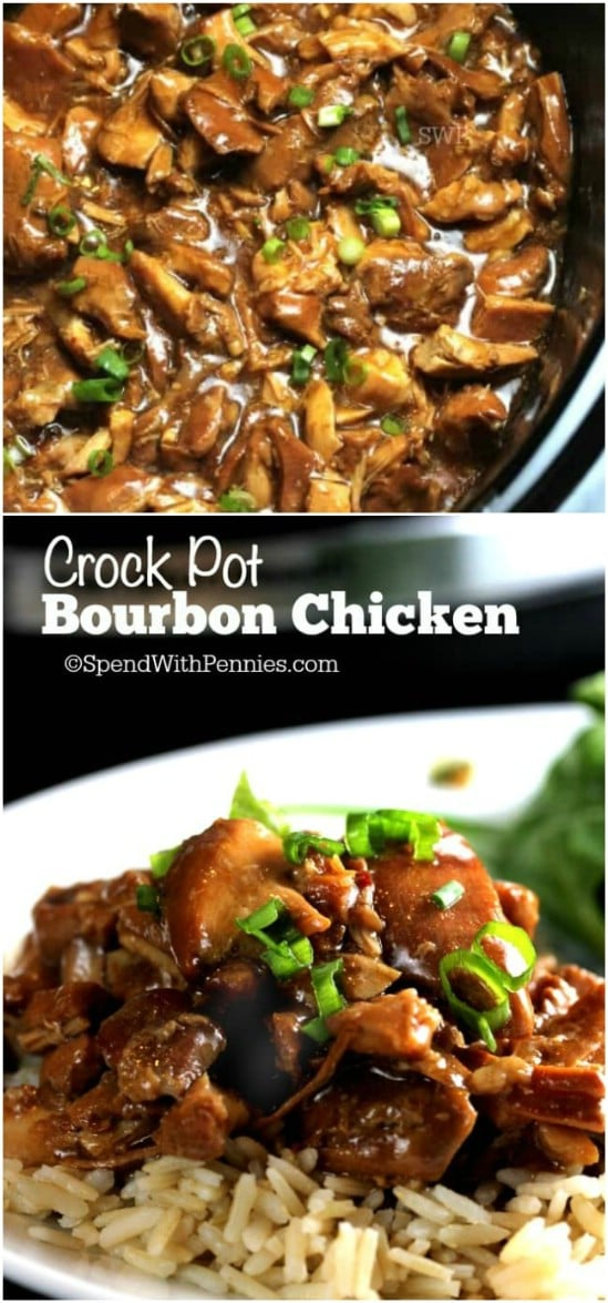 Crock Pot Bourbon Chicken