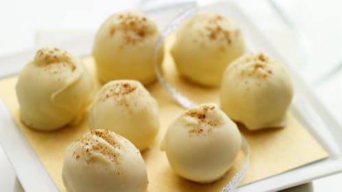 Easy Six Ingredient Eggnog Truffles