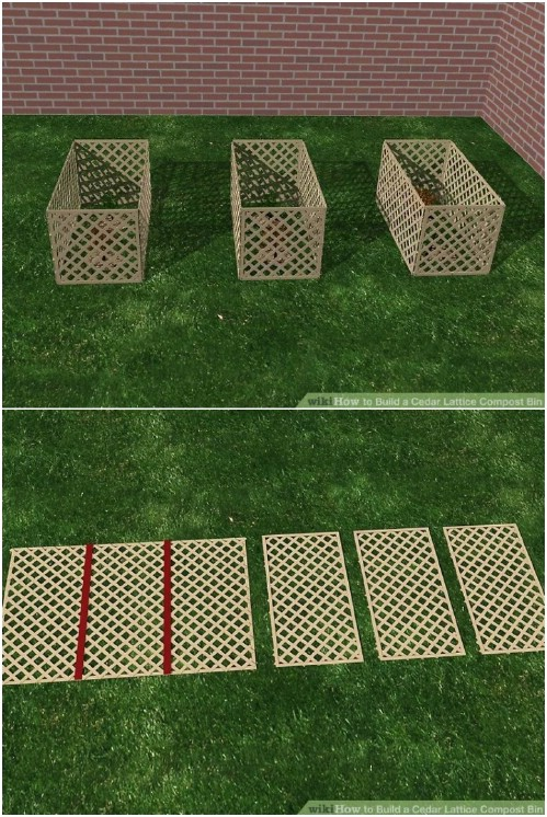 Easy DIY Cedar Lattice Compost Bin
